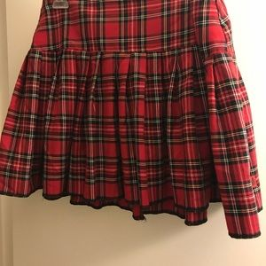 NWOT Tripp red tartan school girl skirt